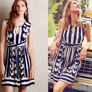 Anthropologie Maeve Sennebec Keyhole Knit Dress L